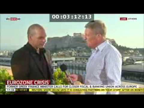 Yanis Varoufakis on Greece and the Eurozone, on Sky News, 16th June 2012