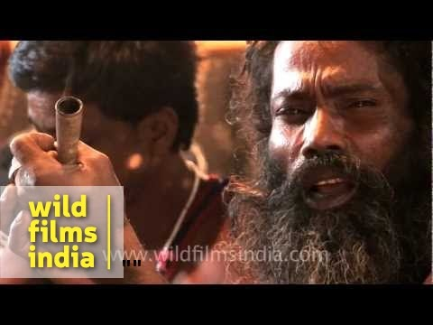 Aghori smoking a chillum