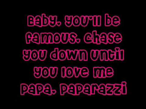 Lady Gaga Paparazzi w/lyrics