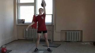 Deduchina snatch 24 kgSankt-Petersburg training camp - RGSI archive 2011