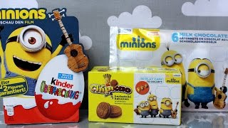 Minions - Kinder Surprise Eggs & Chipicao & Milk Chocolate Bars - Unboxing