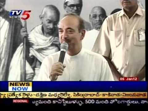 Gandhi Global Family 2012 Dairy Release by Gulam Nabi Azad Senior Congress Leader in Hyderabad.
