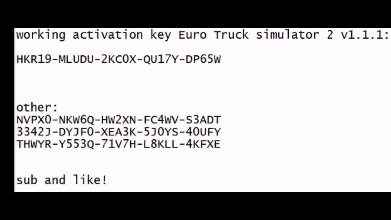 Euro Truck simulator 2 activation key codes - YouTube