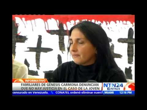 Familiares de Génesis Carmona denuncian que en Venezuela no hay justicia en el caso de la joven