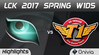 KDM vs SKT Highlights Game 2 LCK Spring 2017 W1D5 Kongdoo Monster vs SK Telecom T1