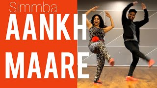 #aankhMAARE #SIMMBA AANKH MAARE/ BOLLYWOOD DANCE/ RANVEER SINGH/ SARA ALI KHAN/ EASY STEPS/ RITU'S