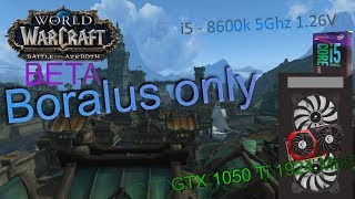 World of Warcraft: BFA [BETA] | 4K/2k/1080p/900p | i5 8600k | GTX 1050 Ti 4 GB | FPS graph
