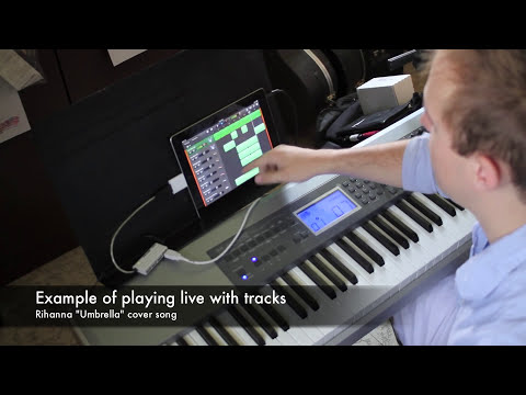 Using a MIDI keyboard with iPad via USB