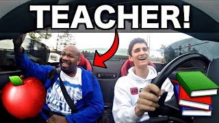 School Teacher Rides In My Lamborghini! Funny Reactions!