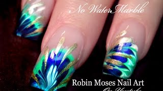 No Water Needed - 3 DIFFERENT Marble nail art Tutorials
