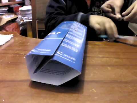 Como hacer un lápiz gigante con una caja de cereal