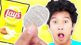 Glass Chips How to make?! Weird Food Taste Test!
