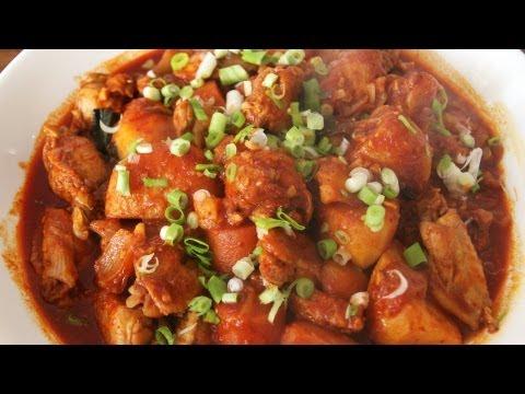 Spicy braised chicken (dakbokkeumtang)