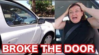 DRIVING WITH MY MUM! (BROKE THE DOOR)