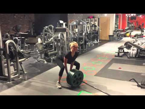 Kate Upton Landmine Squat/RDL Combo
