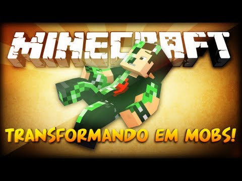 [MINECRAFT MOD] Transformando em Mobs! - Morph