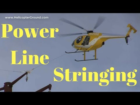 Helicopter Pilot MD 500 Stringing Power Lines