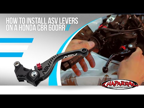 How to install ASV Levers on a Honda CBR 600RR - Chaparral Motorsports Tech Tip #7