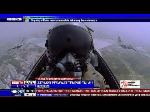 Atraksi Pesawat Tempur TNI AU di HUT ke-72 RI
