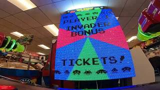 Space Invaders Frenzy Arcade Game JACKPOT WIN #28 at Salisbury Beach (From 9/1/18)