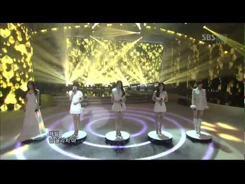 Davichi & T-ara - We Were In Love (SBS Inkigayo 120101) Live HD