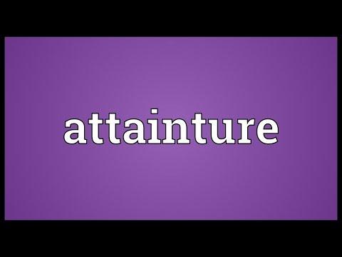Header of attainture