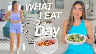 WHAT I EAT IN A DAY! Food Tips & Easy Recipes!