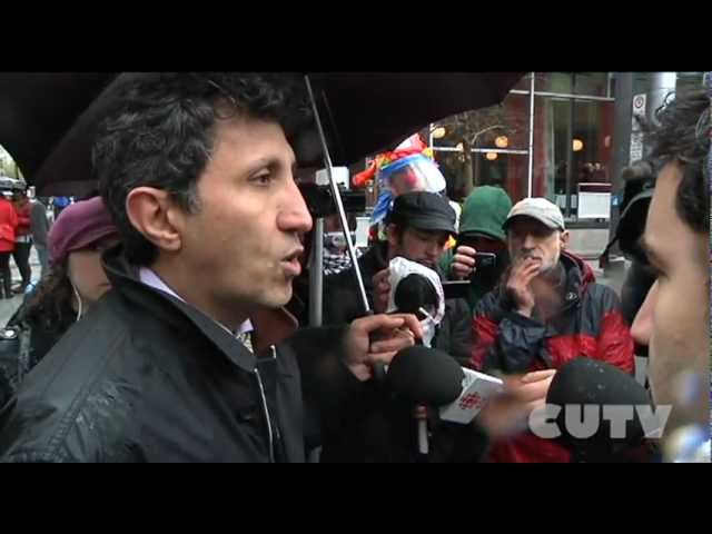 CUTVNews - MNA Amir Khadir QS Almost arrested by SPVM
