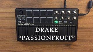 Passionfruit - Drake Instrumental cover (AKAI MPK mini MK2 Black) OVN