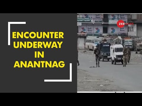 Encounter underway between security forces and terrorists in Anantnag
