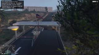 Grand Theft Auto V Online - What happens when you try to drive a MOC into Fort Zancudo?