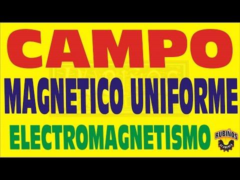 CAMPO MAGNETICO UNIFORME-MOVIMIENTO DE PARTICULAS CARGADAS EN SU INTERIOR