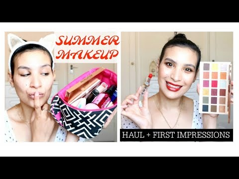 SUMMER DRUGSTORE MAKEUP HAUL + FIRST IMPRESSIONS TRY ON |BAYA BAYATI