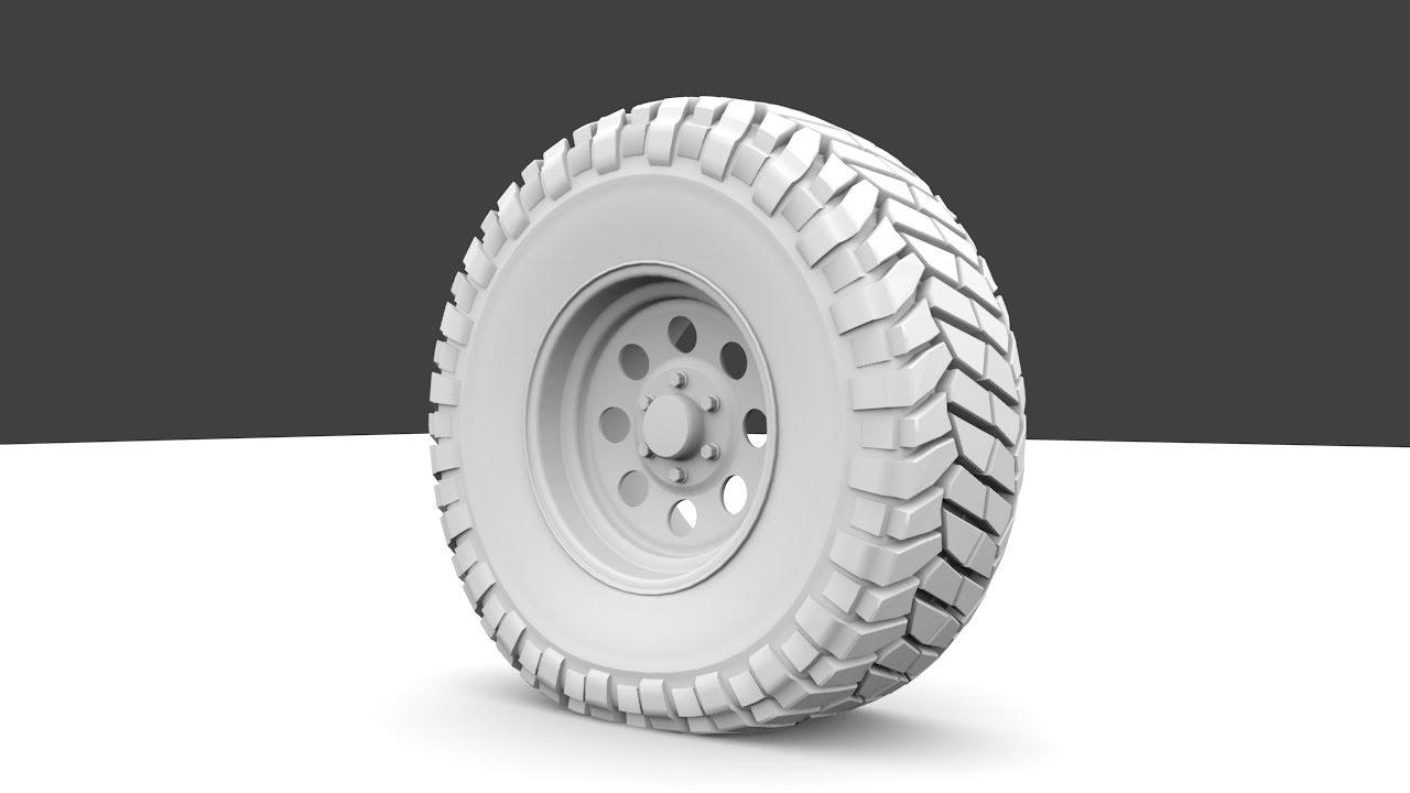 Wheel 3d Model Modeling an Offroad Wheel