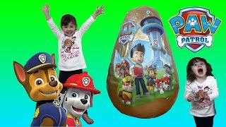 NEW PAW PATROL Super Giant Golden Suprise Egg Fun Toys opening for Kids + Kinder Surprise egg