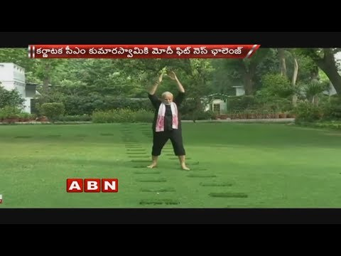 HD Kumaraswamy Responds To PM Narendra Modi's Fitness Challenge | ABN Telugu