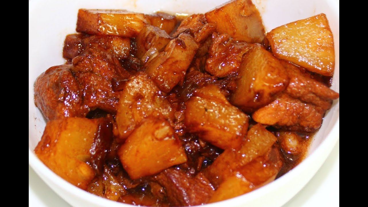 How to Cook Adobo with Pineapple - English - YouTube
