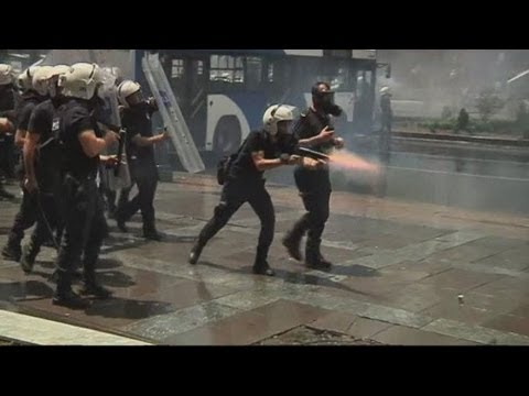 Armies of police fire smoke grenades and pepper spray as protests worsen in Ankara, Turkey