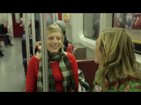 Christmas Subway Flash Mob: Passengers Sing Rudolph The Red Nosed Reindeer