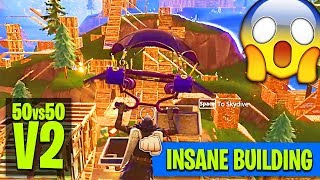 The New '50v50 V2' Gamemode is INSANE!! (CRAZY BUILDING)