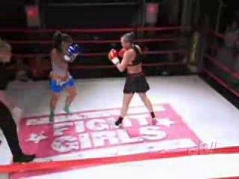 Dawn vs. Jeanine- Thai Boxer babes mix it up