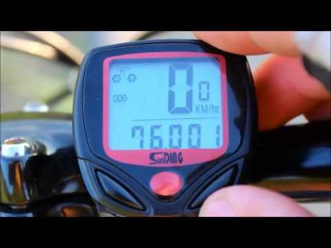 Sunding Bicycle Computer/Speedometer/Odometer (HUI-79669 at TinyDeal. Unboxing and Video Review)