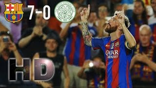 Barcelona vs Celtic 7-0 EXTENDED Highlights (Champions League 2016)