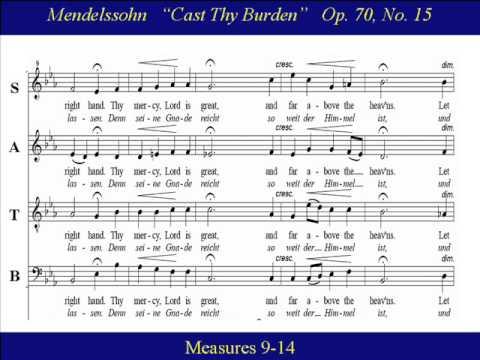 Феликс Мендельсон - Cast thy burden upon the Lord (No. 15 from