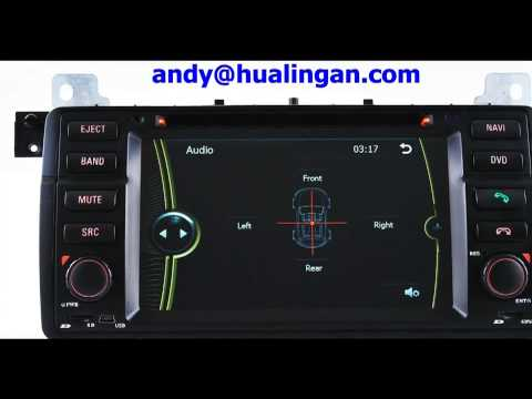 BMW E46 gps dvd player of Installation process—hualingan