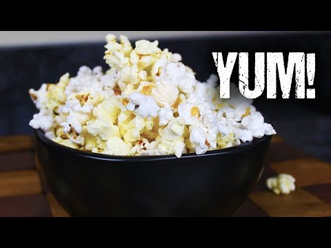 Homemade Microwave Popcorn - From Scratch