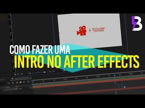 COMO FAZER UMA INTRO LOGO REVEAL no AFTER EFFECTS ft. ESCOLA PARA YOUTUBERS thumbnail