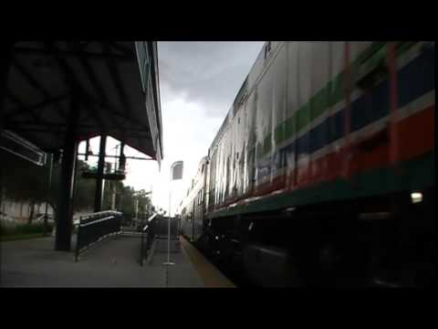 4 Car Tri Rail TRCX at Deerfield Beach Station July 22nd 2014