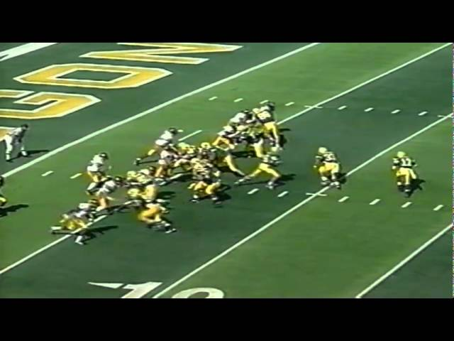 Oregon TE Blake Spence 10 yard touchdown catch vs. Iowa 9-24-1994