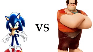 Sonic VS Wreck It Ralph